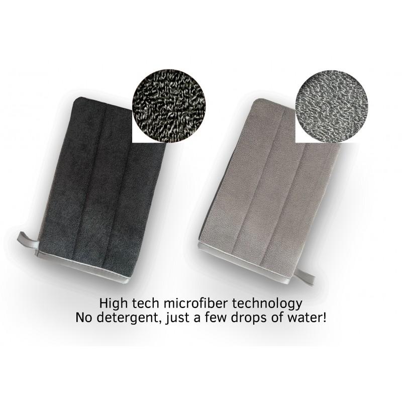 Guanto in microfibra per pulire l'acciaio