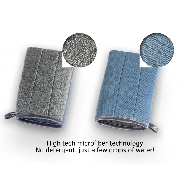 Guanto in microfibra per pulire i vetri